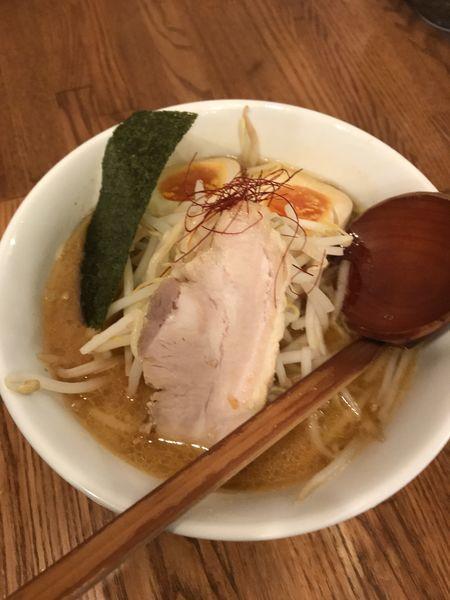 「味噌ラーメン+味玉」@百歩ラーメン 南浦和店の写真