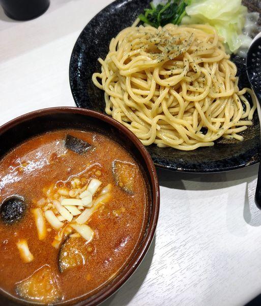 「【9月限定】濃厚トマトつけ麺」@蒙古タンメン 中本 川越店の写真