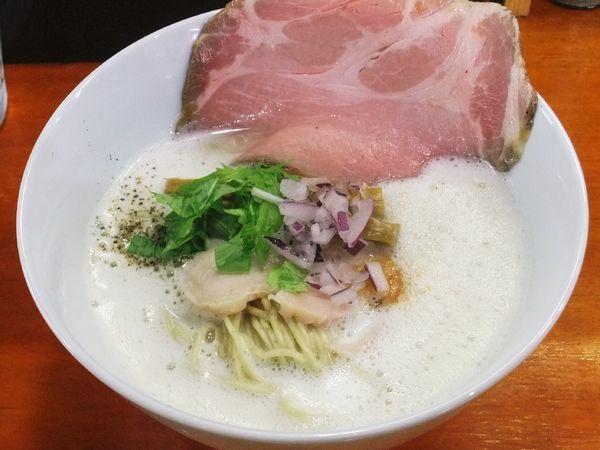 「白湯しお(800円)」@麺屋 鶏っぷの写真