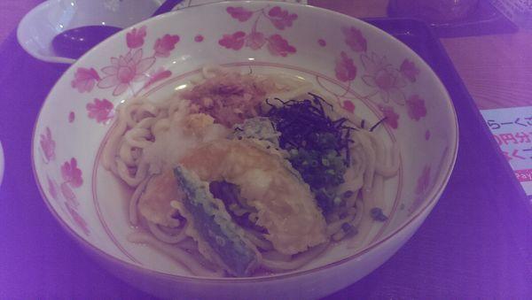 「野菜天ぷらぶっかけうどん(日替わり定食)」@夢庵 新百合ヶ丘店の写真