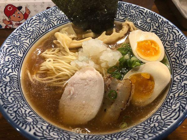 「味玉煮干しラーメン800円」@煮干しラーメン 麺匠 春晴の写真