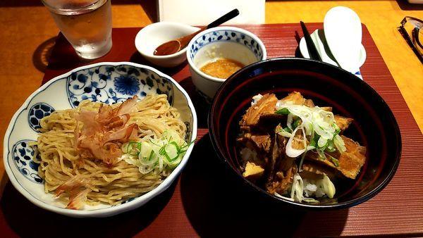 「おろしそば+まかない丼」@麺 みつヰの写真