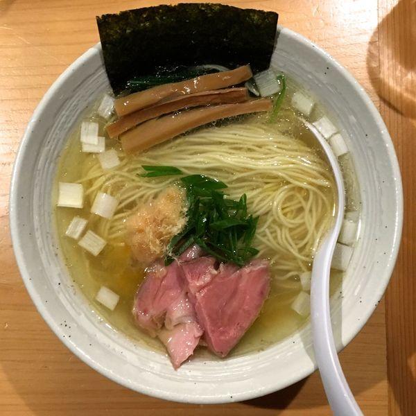 「大山 特別純米夏純米銀河+チャーシュー盛(ハーフ)→塩らぁ麺」@麺屋 さくら井の写真