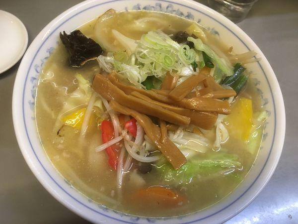 「タンメン900円、餃子6個500円」@七面の写真
