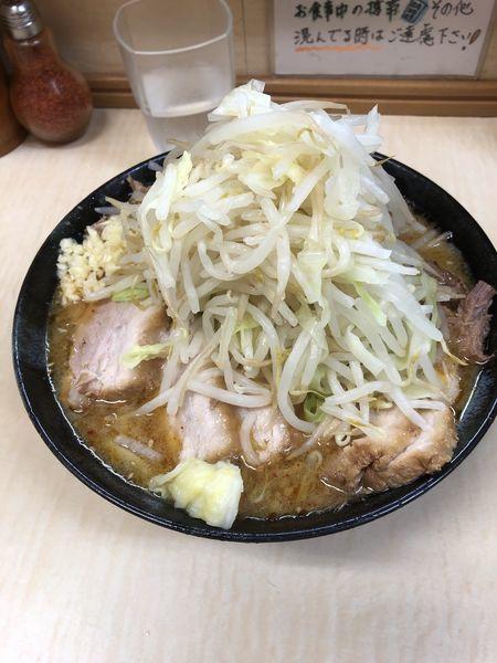 「みそラーメン+肉増し 野菜・ニンニクマシ」@ラーメン二郎 京成大久保店の写真
