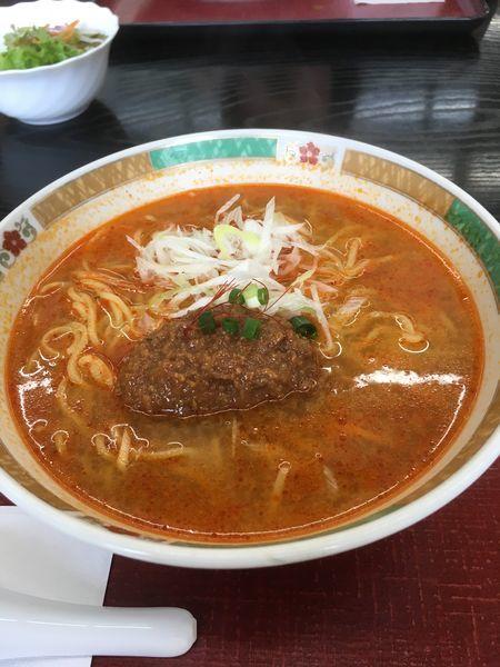 「担々麺(600円)」@道の駅 中山盆地の写真