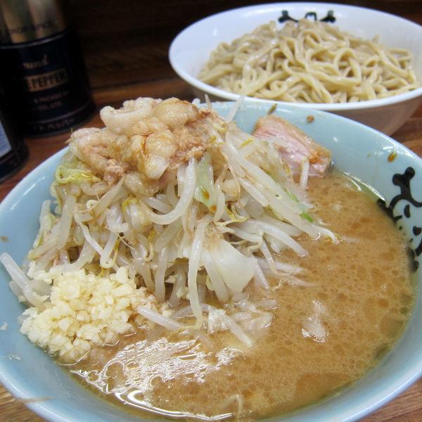 「小つけ麺 850円(野菜・蒜・脂)」@ラーメン二郎 新小金井街道店の写真