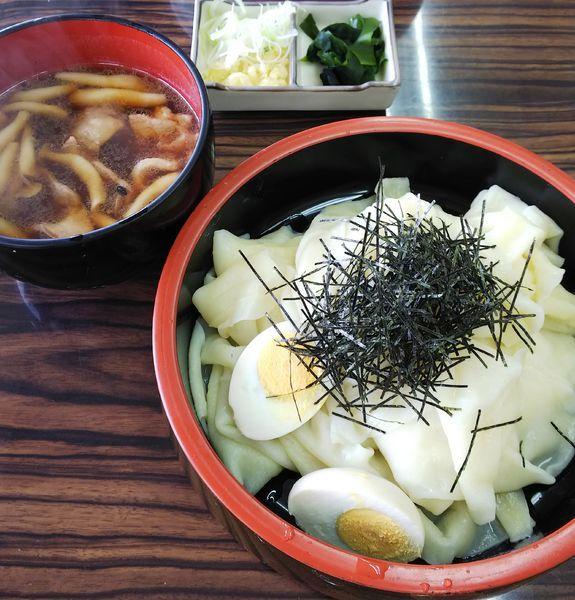 「肉汁つけラーメン(冷)大盛り」@手打ちラーメン 足利麺の写真
