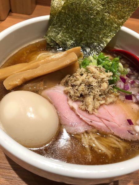 「鯵煮干ラーメン(限定)」@煮干中華そば 鈴蘭 新宿店の写真