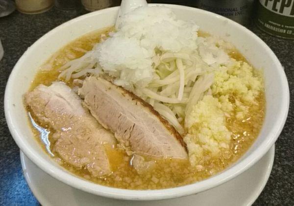 「正油 豚2枚 激辛 極太麺」@らうめん さぶ郎の写真