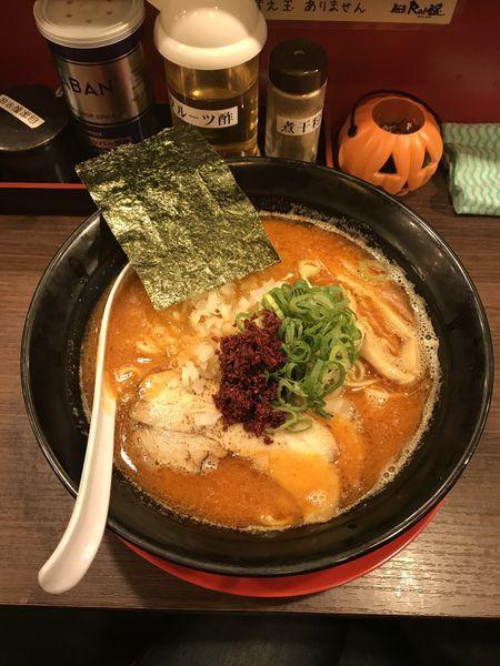 「辛鶏煮干し中華そば」@麺屋 Rai遥の写真