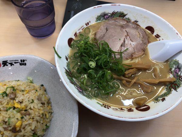 「チャーハン定食(こってり)」@天下一品 立川店の写真