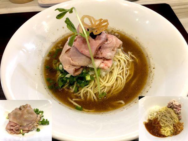 「水と煮干 塩(750円)+肉増し(200円)+替玉」@つくばらーめん 鬼者語 -オニモノガタリ-の写真