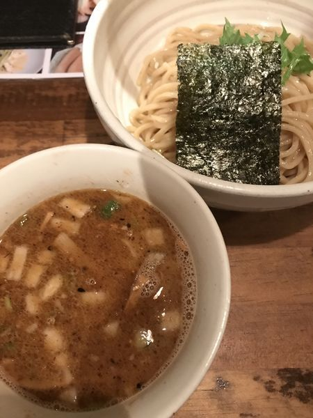 「濃い出汁つけそば」@日本橋 製麺庵 なな蓮の写真
