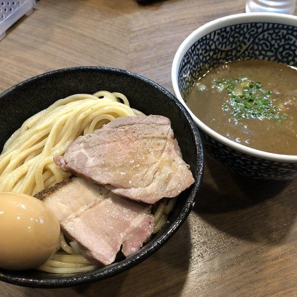 「味玉極濃煮干しつけ麺・中盛」@煮干しつけ麺 宮元の写真
