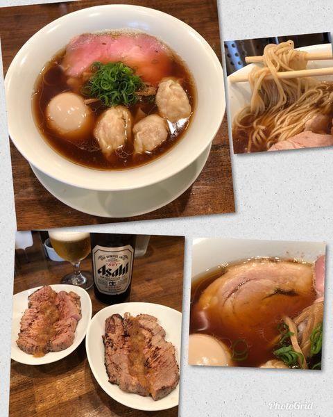 「醤油海老ワンタン麺 ¥1050 他」@創作麺工房 鳴龍の写真