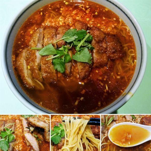 「肉の唐揚げ唐辛子そば(少子排骨麺)  1350円」@新世界菜館の写真
