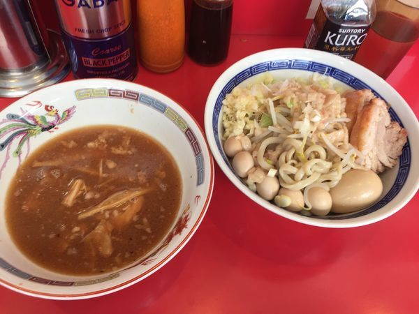 「つけ麺¥850+うずら¥100」@ジャンプの写真