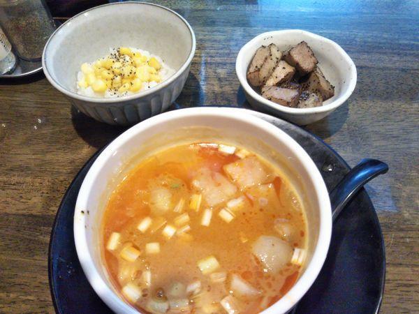 「スパイシー味噌つけ麺(2018年9月限定)」@フカクサ製麺食堂の写真