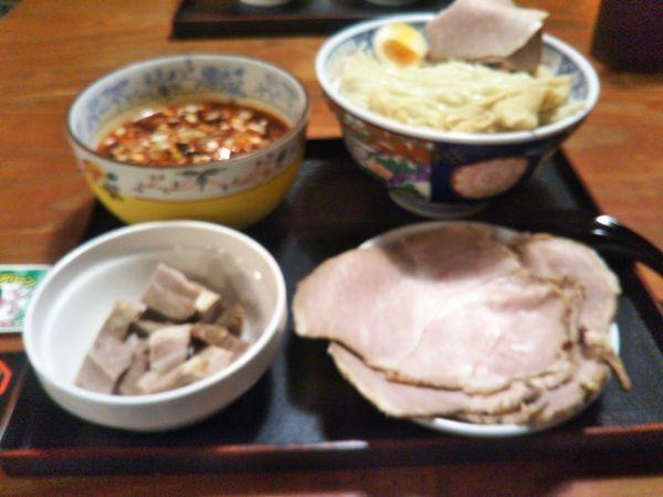「冷し魚介マーラー油つけ麺(2018年9月限定)」@頑固麺の写真