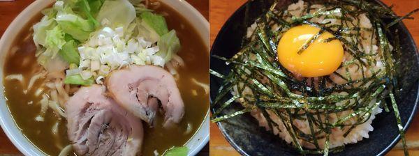 「【限定A】カレーラーメン+韓流卵飯」@ファットンの写真