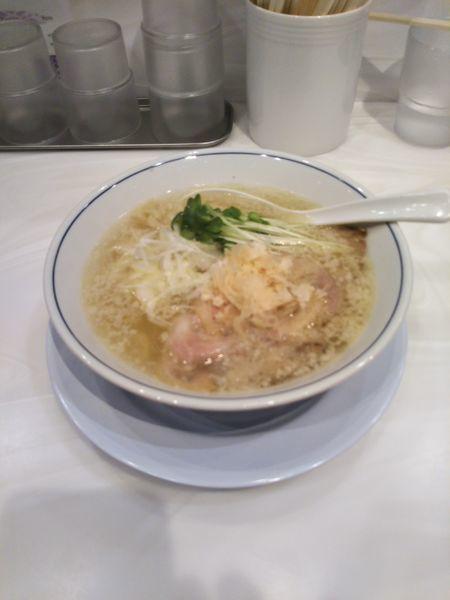 「塩ラーメン(¥750)」@らーめん鱗 茨木店の写真