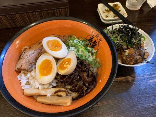 「牛魔王 並盛り ランチ肉めし」@麺屋 八頭龍 戸田店の写真