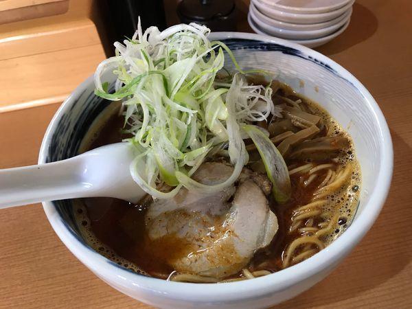 「旨辛煮干らーめん しびれ 750円+50円」@麺家うえのの写真