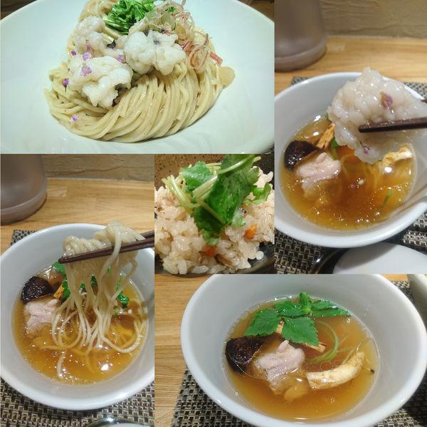 「【三周年記念】秋鱧と松茸の塩つけそば+土鍋で炊いた松茸ご飯」@生粋 花のれんの写真