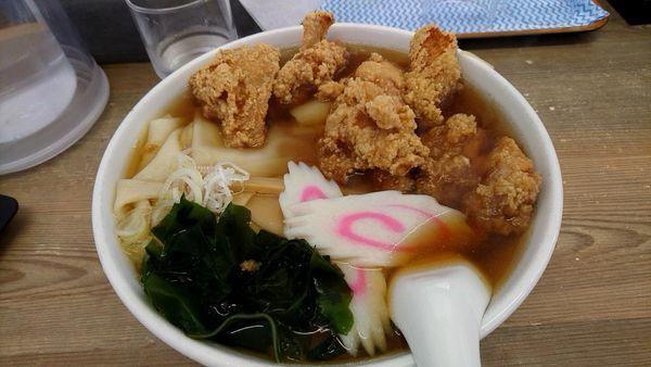 「からあげラーメン」@手打ちらぁめん 足利麺 太田・尾島店の写真