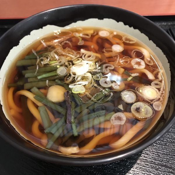 「山菜うどん(¥740)」@ブルースカイ 7番ゲートスナックの写真