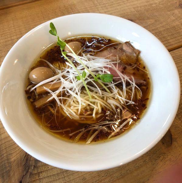 「Kiri_soba(醤油)¥800&うずら味玉2個¥50」@The Noodles & Saloon Kiriyaの写真