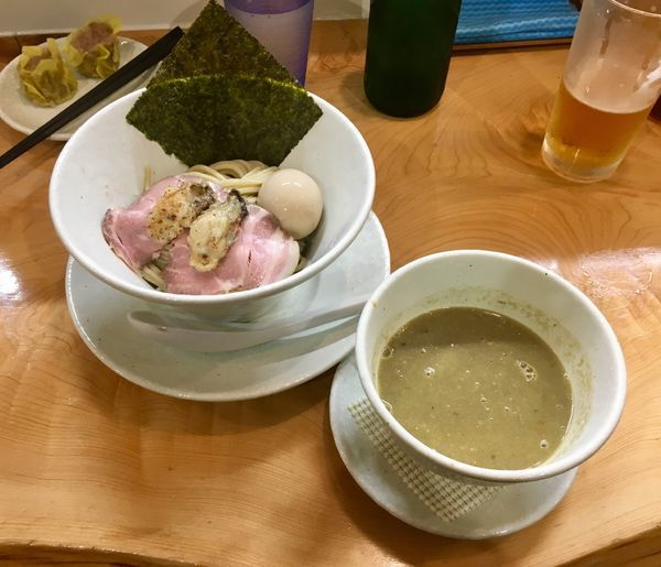 「牡蠣の濃厚つけ麺 1200円」@麺屋BISQの写真