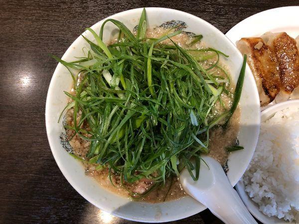 「ネギラーメン餃子定食ランチ」@来来亭 国母店の写真