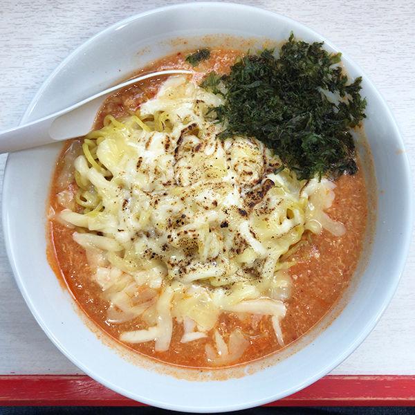 「えび&チーズタンタンメン+Aセット」@奴が愛したタンタンメン メーギ・テントーチの写真