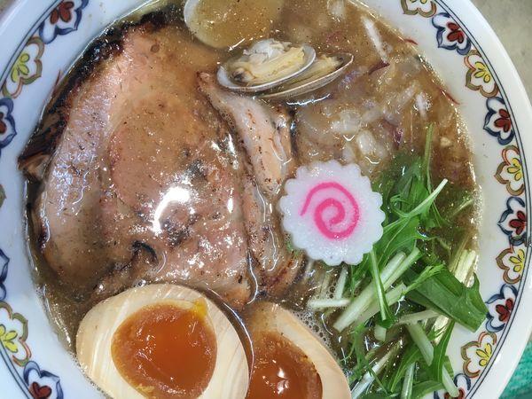 「アジニボシソバ(熟玉)¥900+ダイブ飯¥60」@下品なぐらいダシのうまいラーメン屋 都島店の写真
