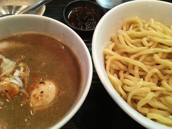 「味玉極太つけ麺 辛別盛」@麺屋 和利道 waritoの写真