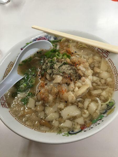 「中華そば脂濃い」@寿栄広食堂の写真