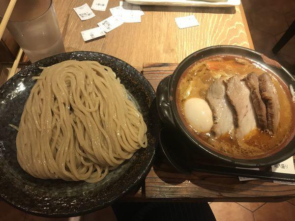 「土鍋味噌つけ麺ご馳走盛りおじやセット」@味噌が一番 中野サンモール店の写真