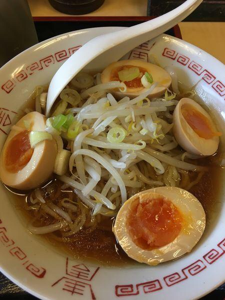 「おすすめB(煮卵ラーメン+ミニ焼肉丼)」@食事処 禅の写真