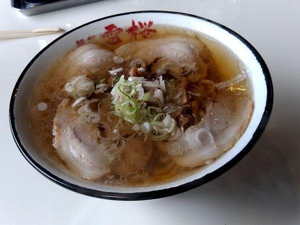 「チャーシュー麺(並盛210g)850円+餃子(5個)410円」@麺や 雷桜の写真