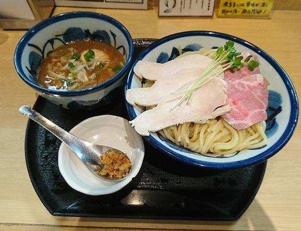 「鶏と魚介の特製つけ麺」@つけ麺 たけもとの写真