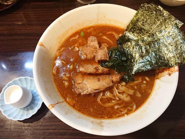 「魚介味噌ラーメン+ちょいたし生クリーム」@麺屋 優創の写真