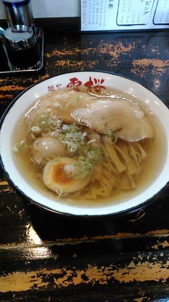 「らーめん 680円 味付け卵 120円」@麺や 雷桜の写真