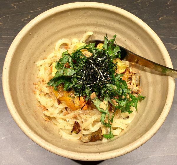「季節野菜と麦味噌のまぜ麺」@YUJI RAMEN Tokyoの写真