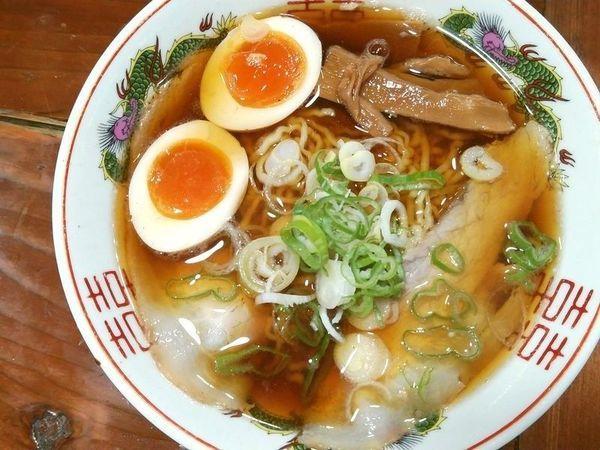 「あっさり(縮れ麺)+味玉」@長尾中華そば 東京神田店の写真