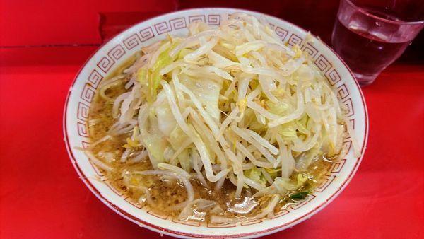 「ラーメン(麺硬め・ニンニク)」@ラーメン二郎 三田本店の写真