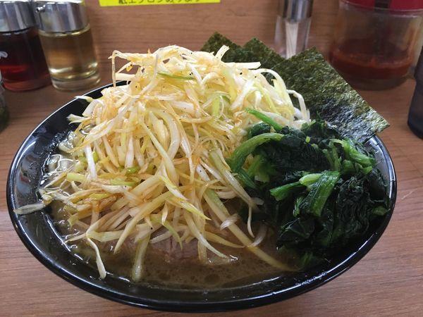 「ネギラーメン」@濃厚豚骨汁 横浜家系ラーメン 花木家 経堂本店の写真