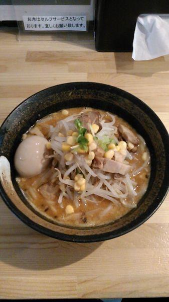 「味噌山賊麺 800円 味玉 100円」@上州山賊麺 大大坊の写真