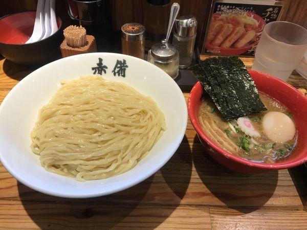 「特製豚鶏つけ麺」@赤備の写真